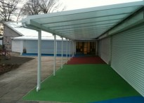 Sparks Centre - Children's Centre - Wall Mounted Canopy