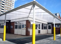 St Luke's C of E Primary School - Wall Mounted Canopy