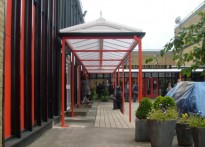 Sacred Heart RC Secondary School - Wall Mounted Canopies