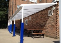 William Ellis School - Wall Mounted Canopy - Second Install