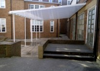 William Ellis School - Wall Mounted Canopy - First Installation