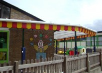 All Saints C of E Primary School and Nursery - Wall Mounted Canopy