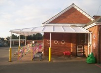 St Peter's C of E Primary School, Devon - Wall Mounted Canopy