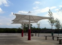 Great Dunmow Primary School - Umbrella Canopy - 2nd Installation