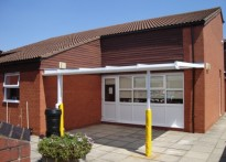 St Peter's C of E Combined School - Wall Mounted Canopy
