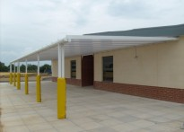 Khalsa Primary School - Wall mounted canopy