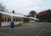 St Joseph's School - Wall Mounted Canopy