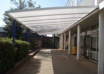 Mark Hall School - Wall Mounted Canopy