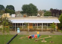 Purford Green Infants School - Wall Mounted Canopy