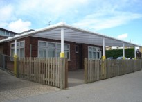 St Joseph's Primary School - Wall Mounted Canopy