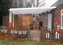 Windmill Under 5's Pre School - Wall Mounted Canopy