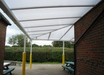 Lee Common C of E School - Wall Mounted Canopy