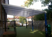 High Wycombe CE Combined School - Wall mounted canopy