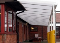 St Monica's Catholic School - Wall Mounted Canopy