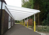 Loudwater Combined School - Wall mounted canopy
