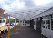 Loudwater Combined School - Wall mounted canopy - Second Install