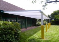 Highcrest Community School - Wall mounted canopy