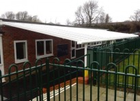Holne Chase Combined School - Wall mounted canopy