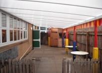 King Edward Nursery - Wall mounted canopy