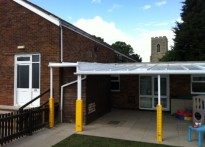 Little Oaks Nursery - Wall mounted canopy - Second Install