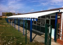 Pirton Hill Primary School - Wall Mounted Canopy