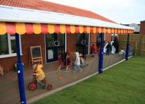 Potton Pre School - Wall Mounted Canopy