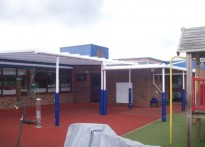 Kingsfield Primary School - Wall Mounted canopy