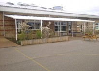 The Lantern Community Primary School - Wall Mounted Canopy - 1st Installation