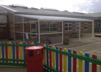 The Lantern Community Primary School - Wall Mounted Canopy - 3rd Installation