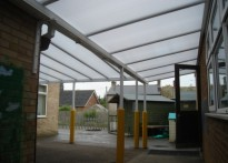 Overhills Primary School - Two Wall Mounted Canopies