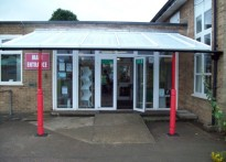 Priory Park Infants School - Wall Mounted Canopy