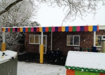 Peartree Way Nursery School - Wall mounted canopy