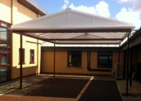 Hampton Hargate Primary School - Free Standing Canopy - Second Installation