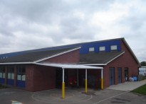 Hillmead Primary School - Wall Mounted Canopy