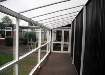 Milby Primary School - Wall Mounted Canopy
