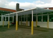 St Mary's Church of England Primary School - Wall Mounted Canopy
