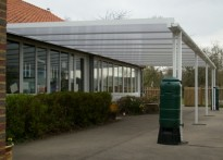 St Mary's Church of England Primary School - Second Wall Mounted Canopy