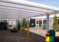 St Nicolas CE Primary School - Wall Mounted Canopy