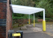 The Revel C of E Primary School - Wall Mounted Canopy