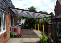West Haddon Primary School - Wall Mounted Canopy