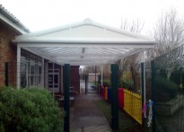 Milestone School - Free standing and wall mounted canopy