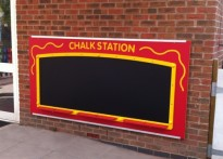 Ullesthorpe Pre-school - Large Outdoor Chalk Board