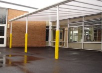 Mellor Community Primary School - Wall Mounted Canopy