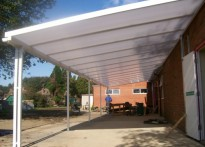 Haven High Technical College - Wall Mounted Canopy