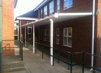 Skegness Grammar School - Wall Mounted Canopy