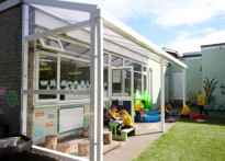 St Peter's Catholic Primary School - Wall mounted canopy