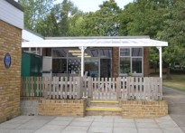 Madginford Park Infant School - Wall Mounted Canopy