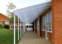 Meadow Vale School - Wall Mounted Canopy
