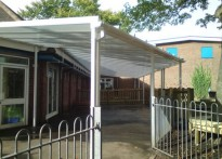 Our Lady of Compassion RC Primary School - Wall Mounted Canopy