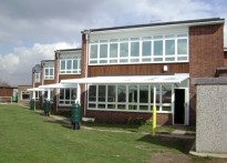 Springwell Junior School - Wall Mounted Canopy